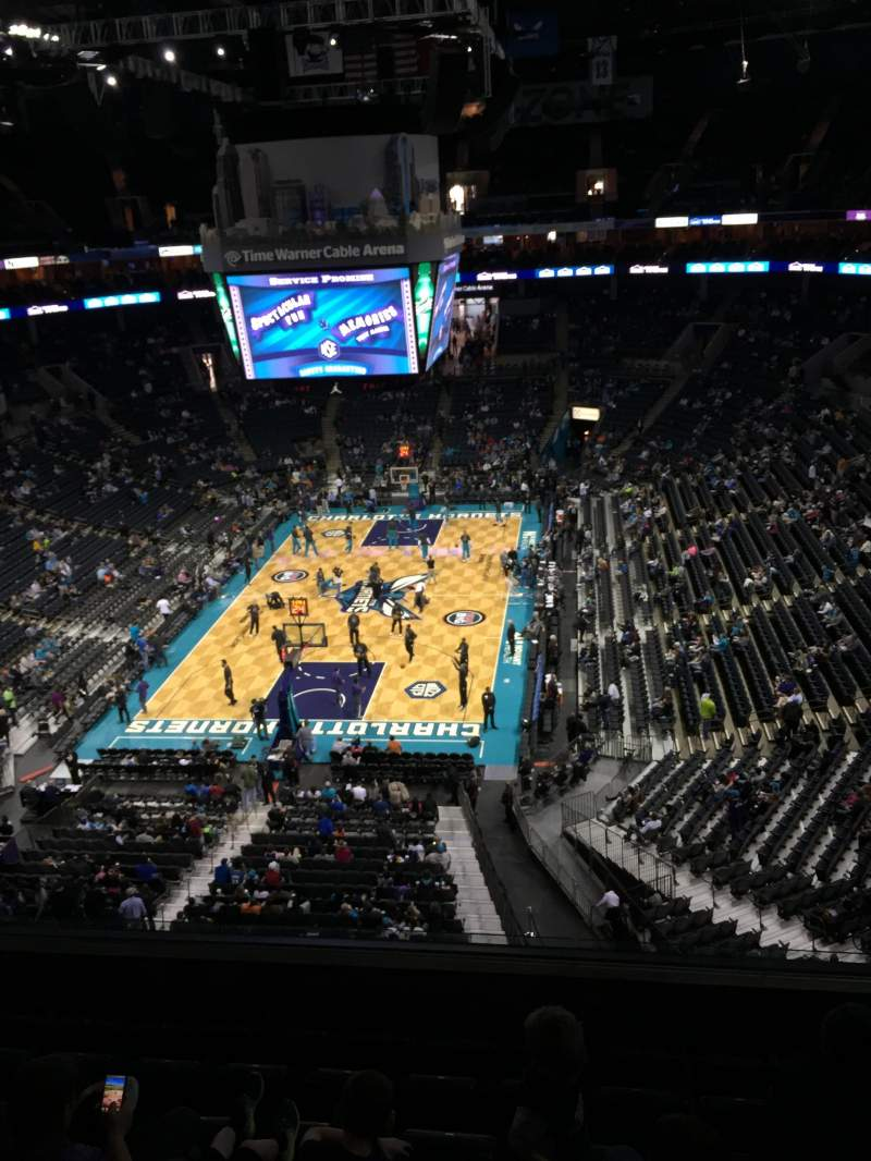 Seating view for Spectrum Center Section 216 Row C Seat 14
