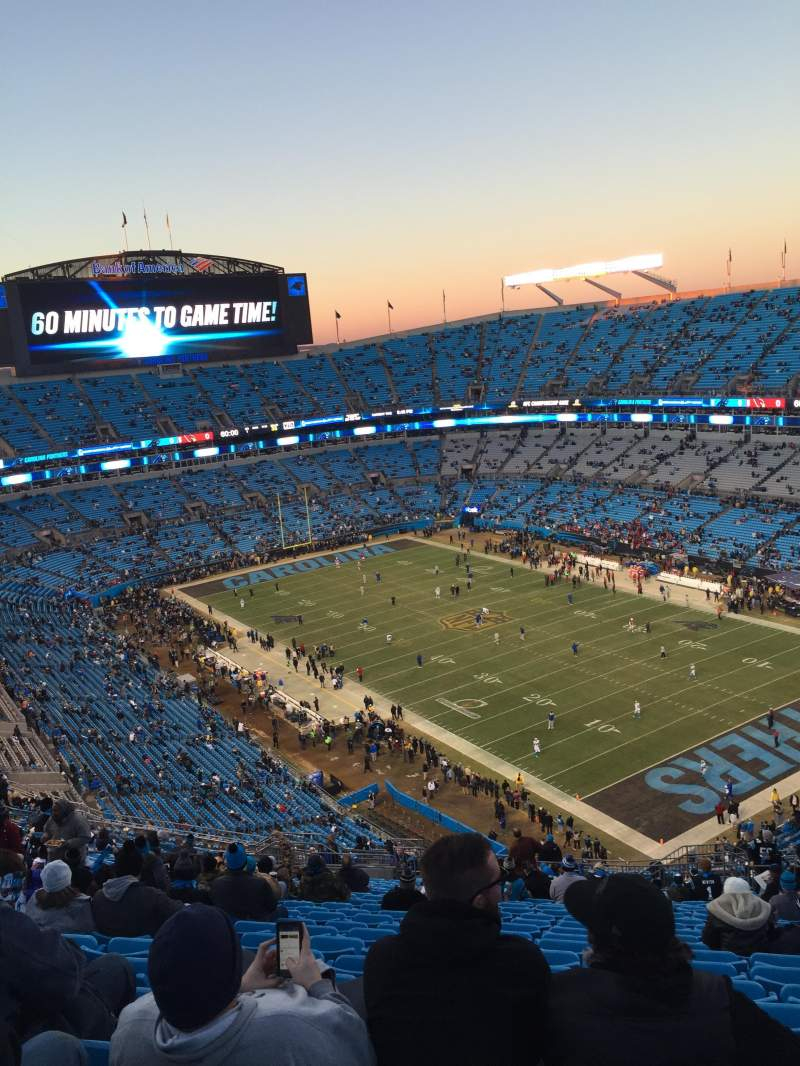 Seating view for Bank of America Stadium Section 506 Row 19 Seat 5