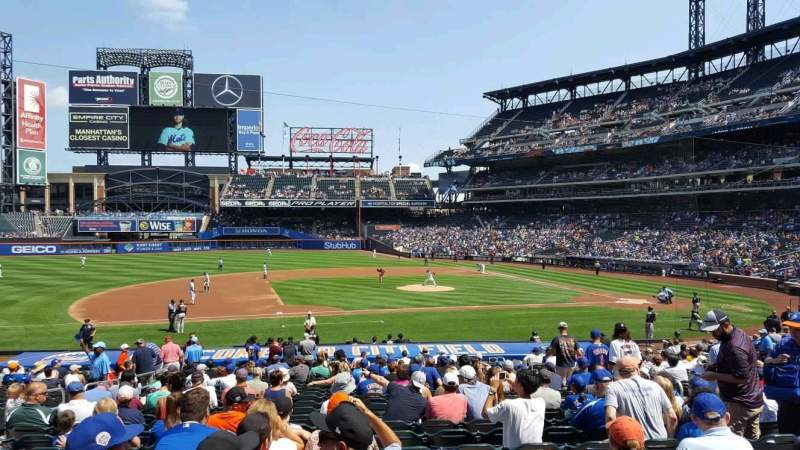 Seating view for Citi Field Section 122 Row 23 Seat 9
