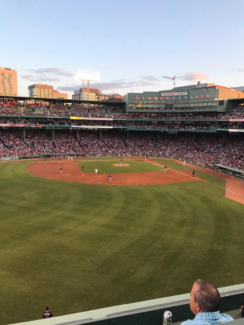 Seating view for Fenway Park Section Green Monster 6 Row 2 Seat 3