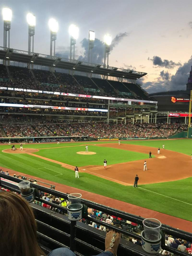Seating view for Progressive Field Section 334 Row B Seat 1
