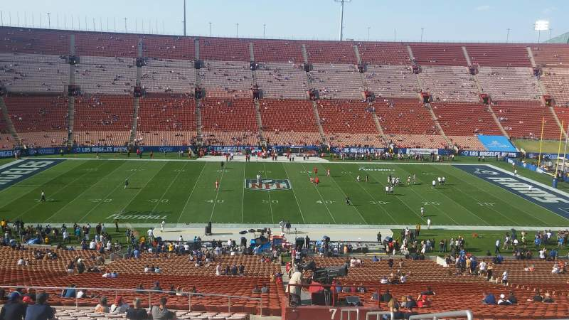 Seating view for Los Angeles Memorial Coliseum Section 7L Row 65 Seat 1