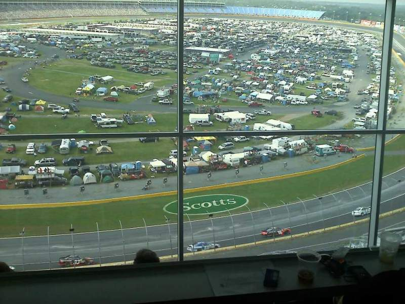 Seating view for Charlotte Motor Speedway Section suite Row 173 Seat 51