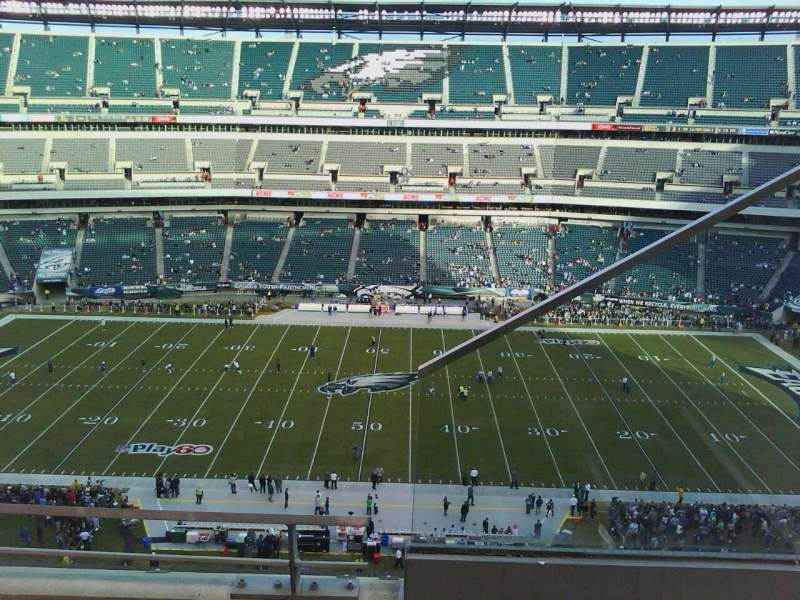Seating view for Lincoln Financial Field Section 201 Row 6 Seat 1