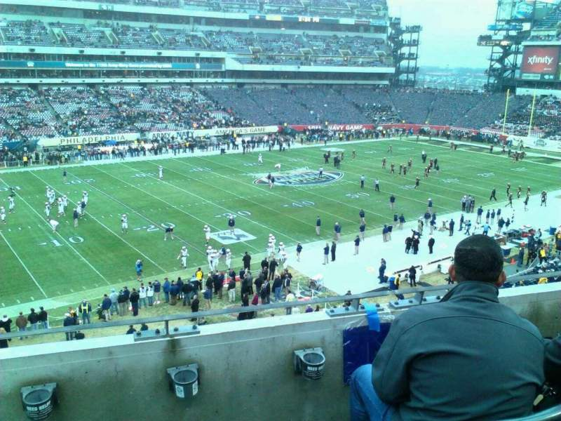 Seating view for Lincoln Financial Field Section c18 Row 3 Seat 22