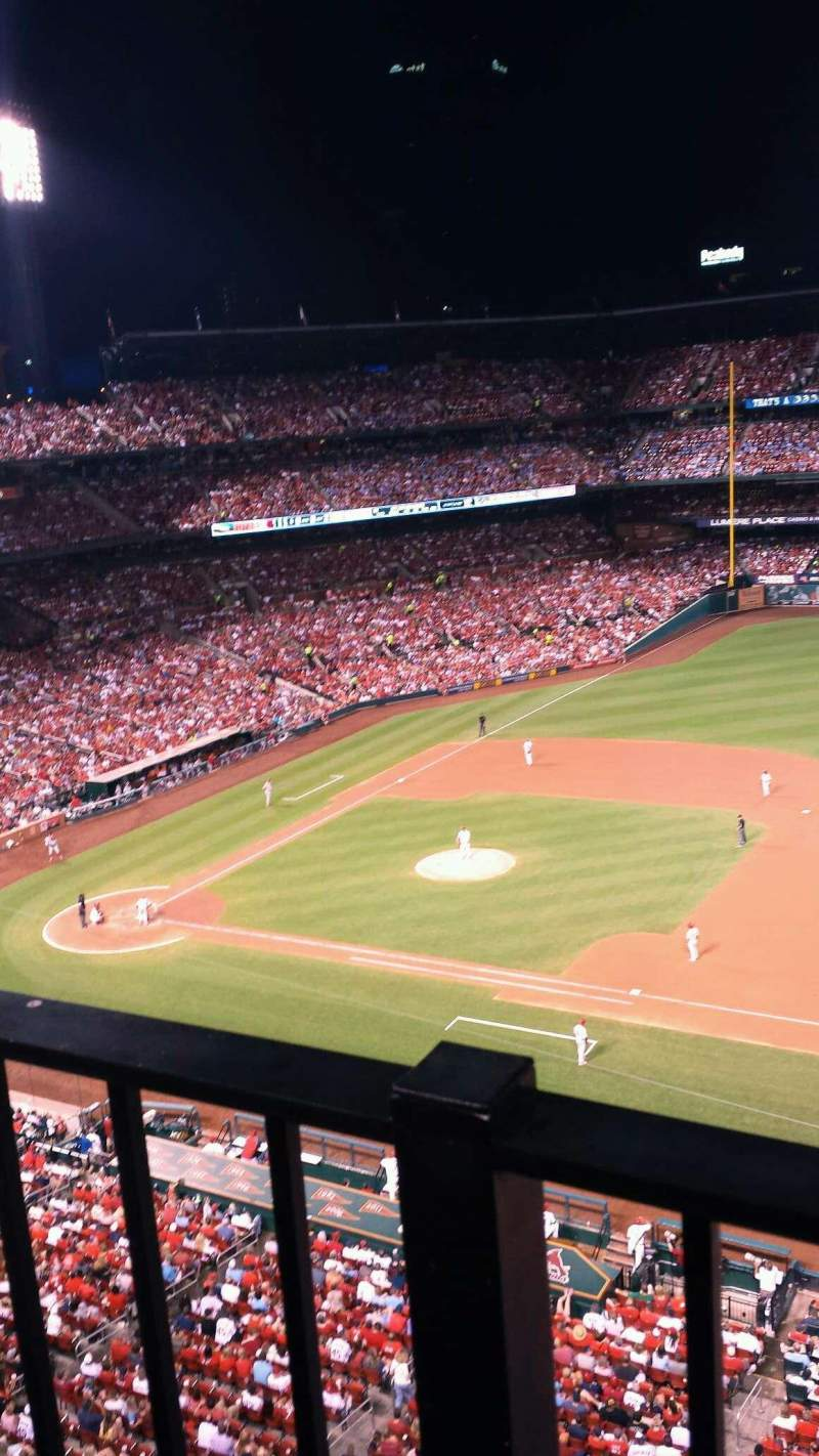 Seating view for Busch Stadium Section 341 Row 1 Seat 13