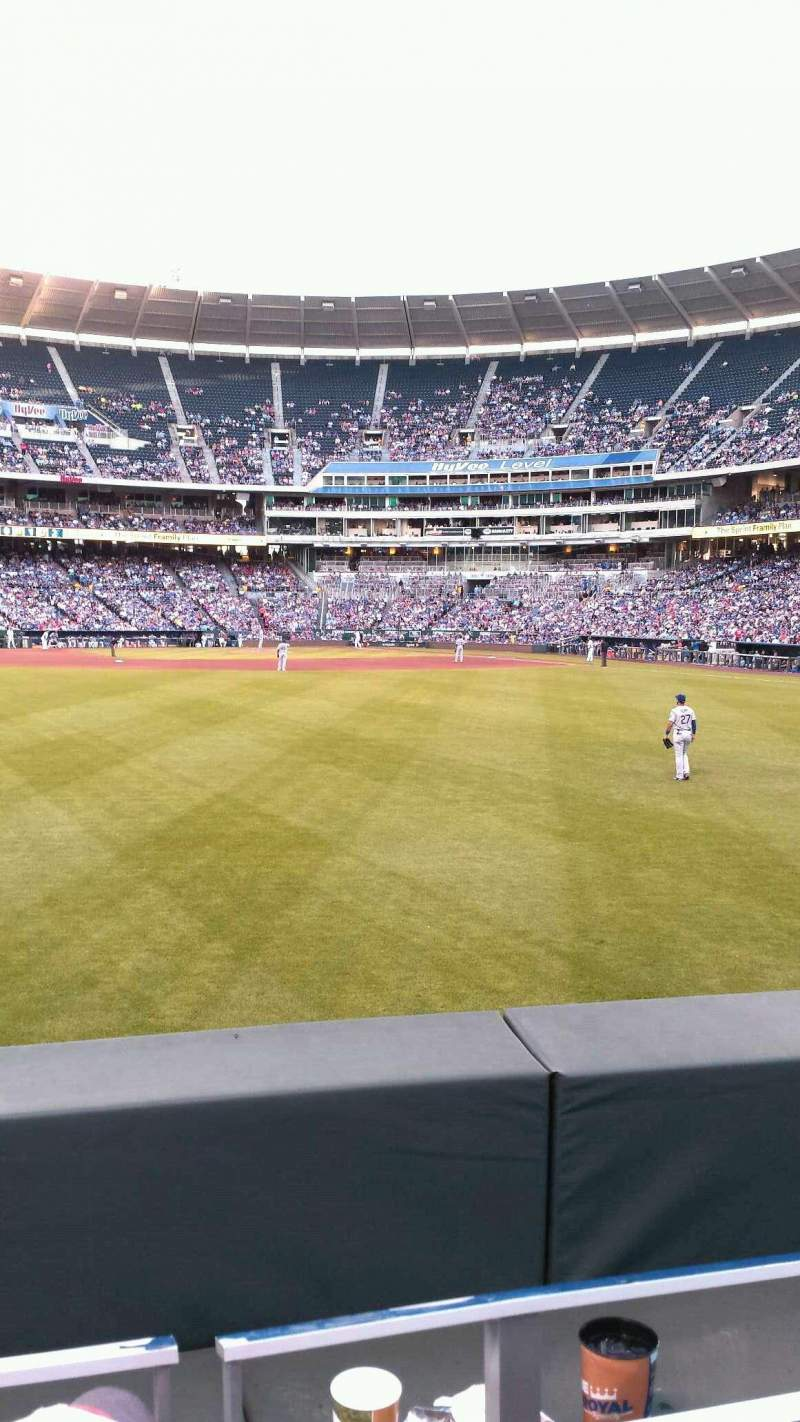 Seating view for Kauffman Stadium Section 103 Row B Seat 13
