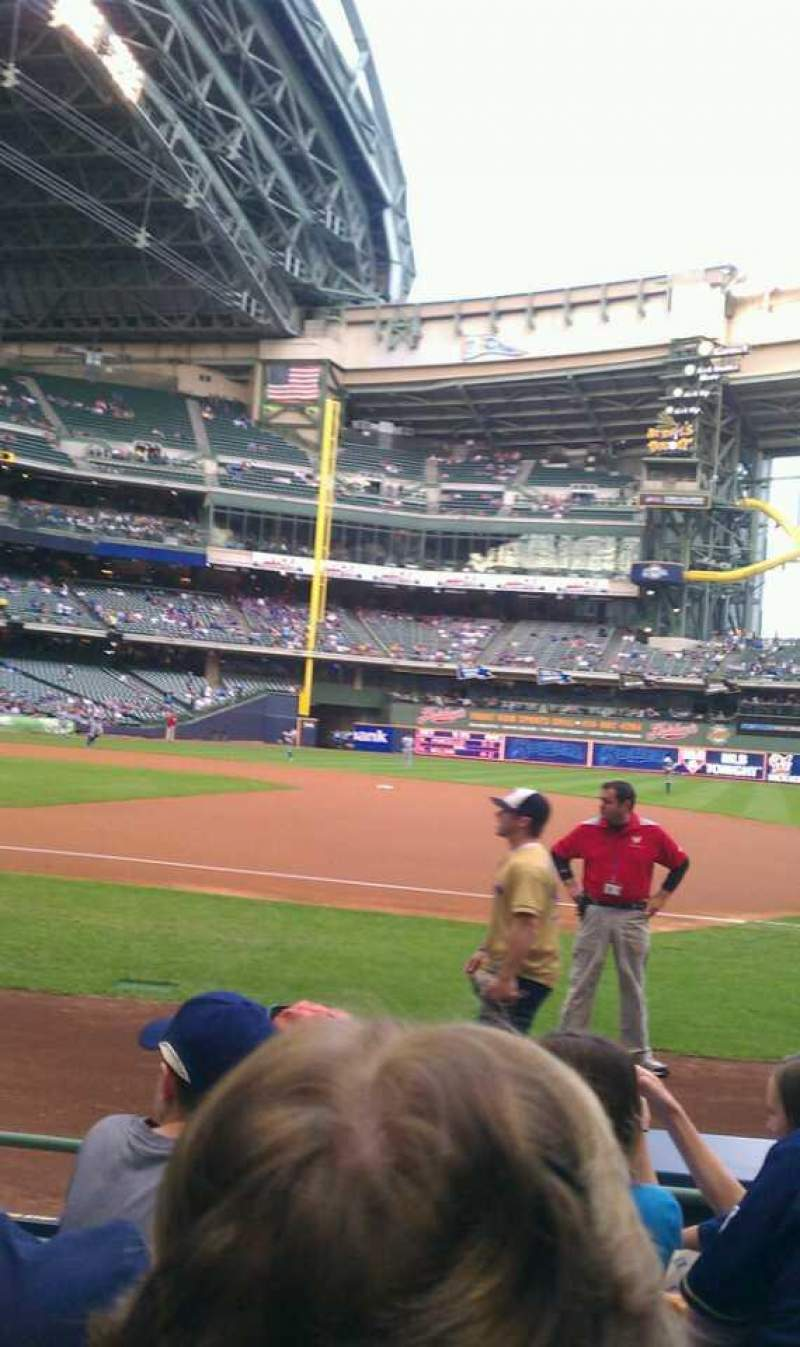 Seating view for Miller Park Section 111 Row 5 Seat 2