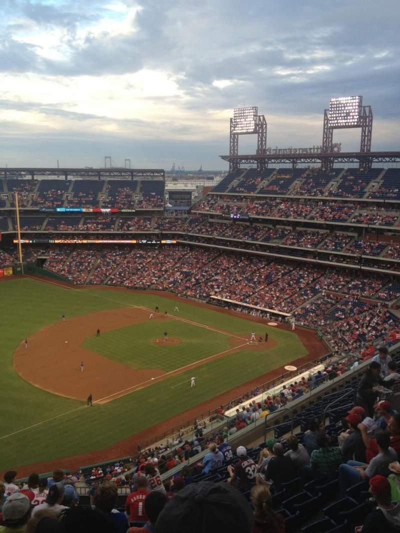Seating view for Citizens Bank Park Section 430 Row 13 Seat 20