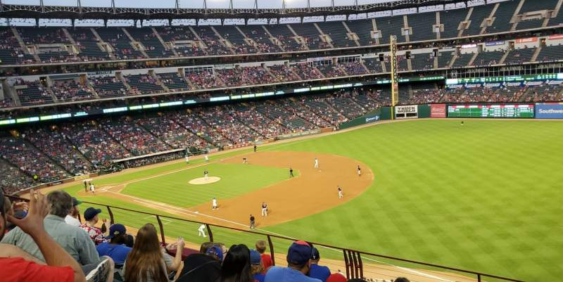 Seating view for Globe Life Park in Arlington Section 238 Row 6 Seat 13 and 14
