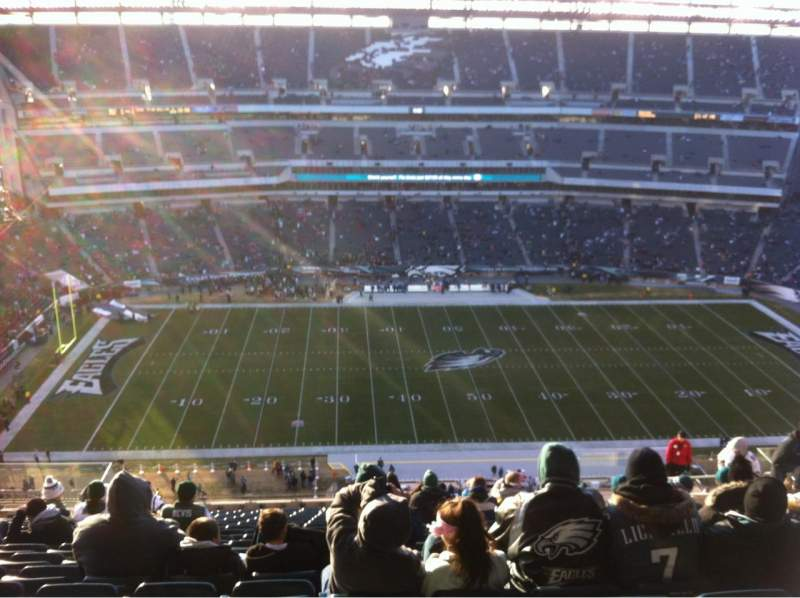 Seating view for Lincoln Financial Field Section 224 Row 24 Seat 10