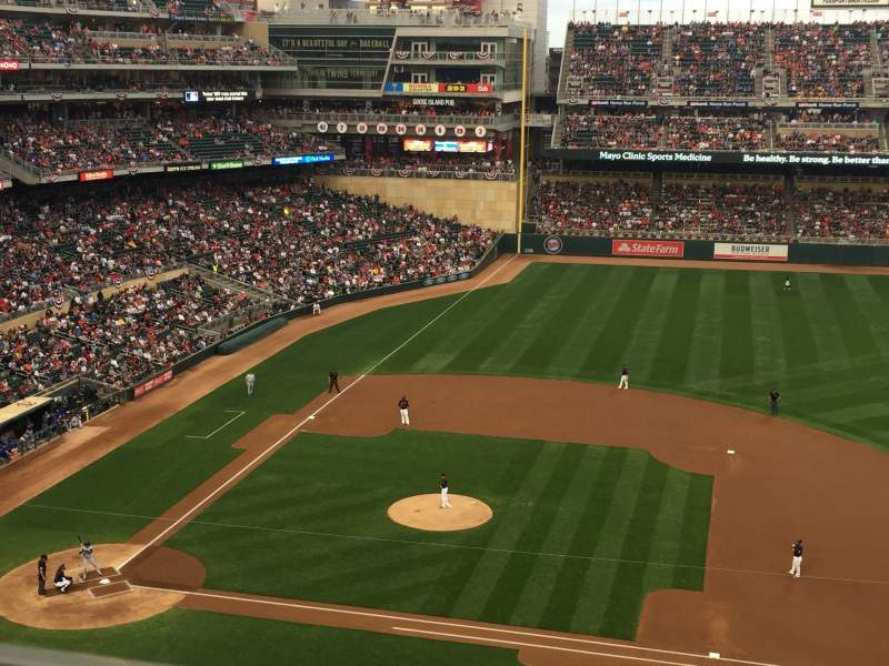 Seating view for Target Field Section 209 Row 1 Seat 7