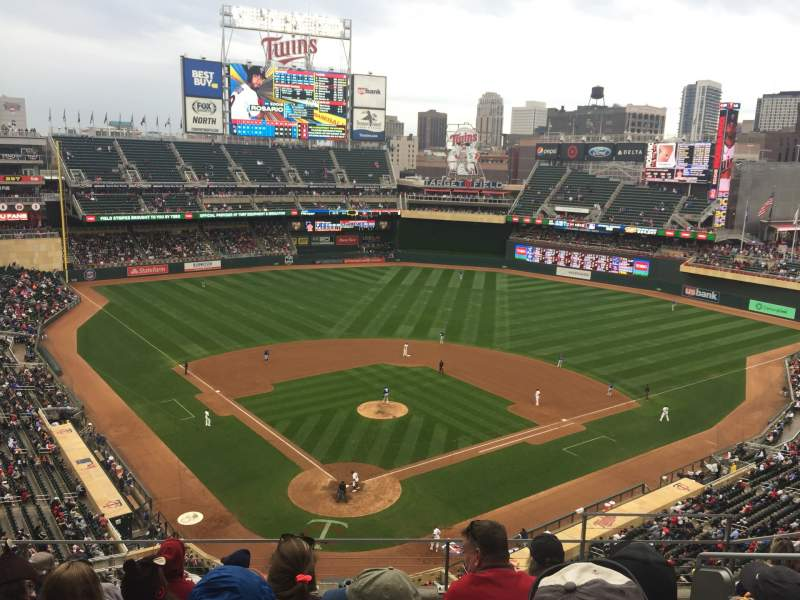 Seating view for Target Field Section 214