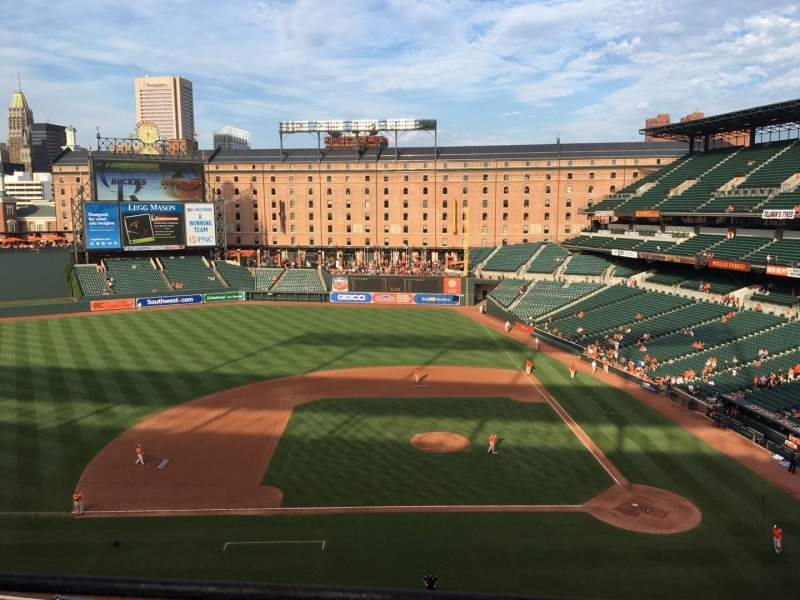 Seating view for Oriole Park at Camden Yards Section 352 Row 1 Seat 9