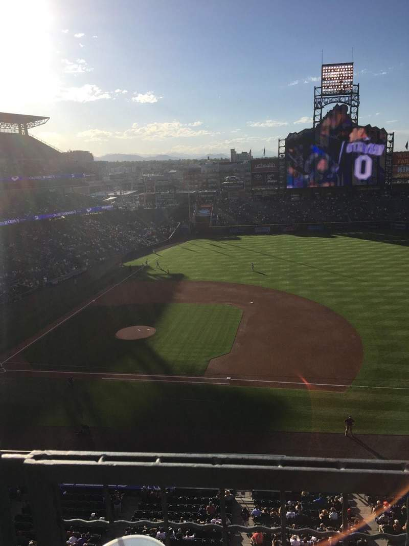 Seating view for Coors Field Section L321 Row 1 Seat 18