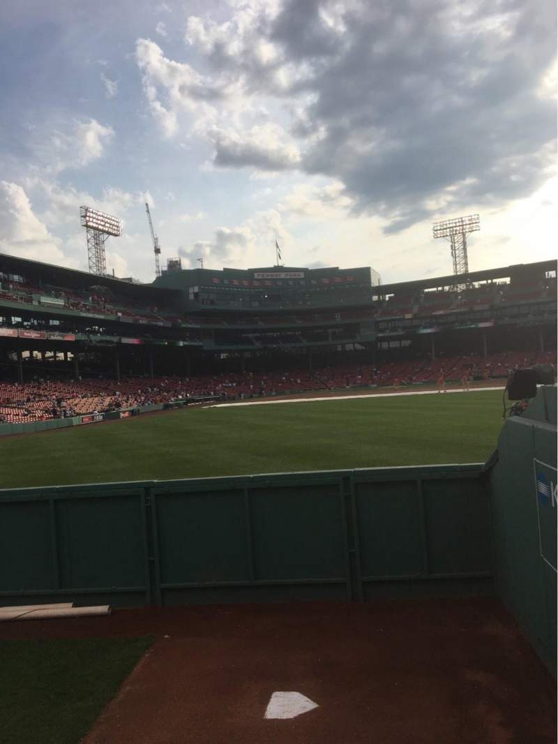 Seating view for Fenway Park Section Bleacher 42 Row 1 Seat 5