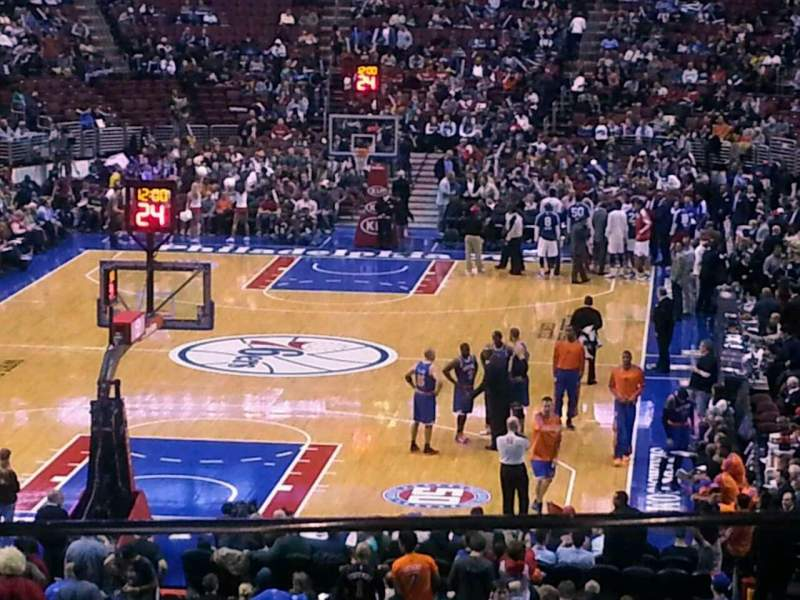 Seating view for Wells Fargo Center Section CC20 Row 1 Seat 6