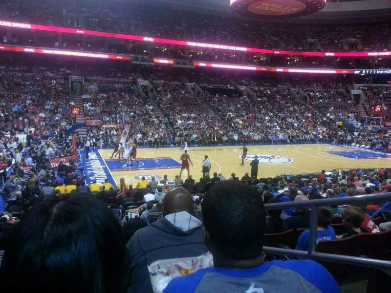 Seating view for Wells Fargo Center Section 123 Row 14 Seat 18