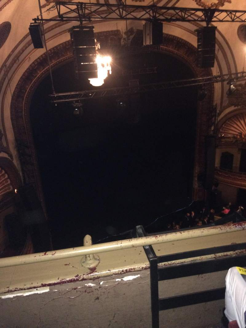 Seating view for Palace Theatre (Broadway) Section Balcony left Row B Seat 17