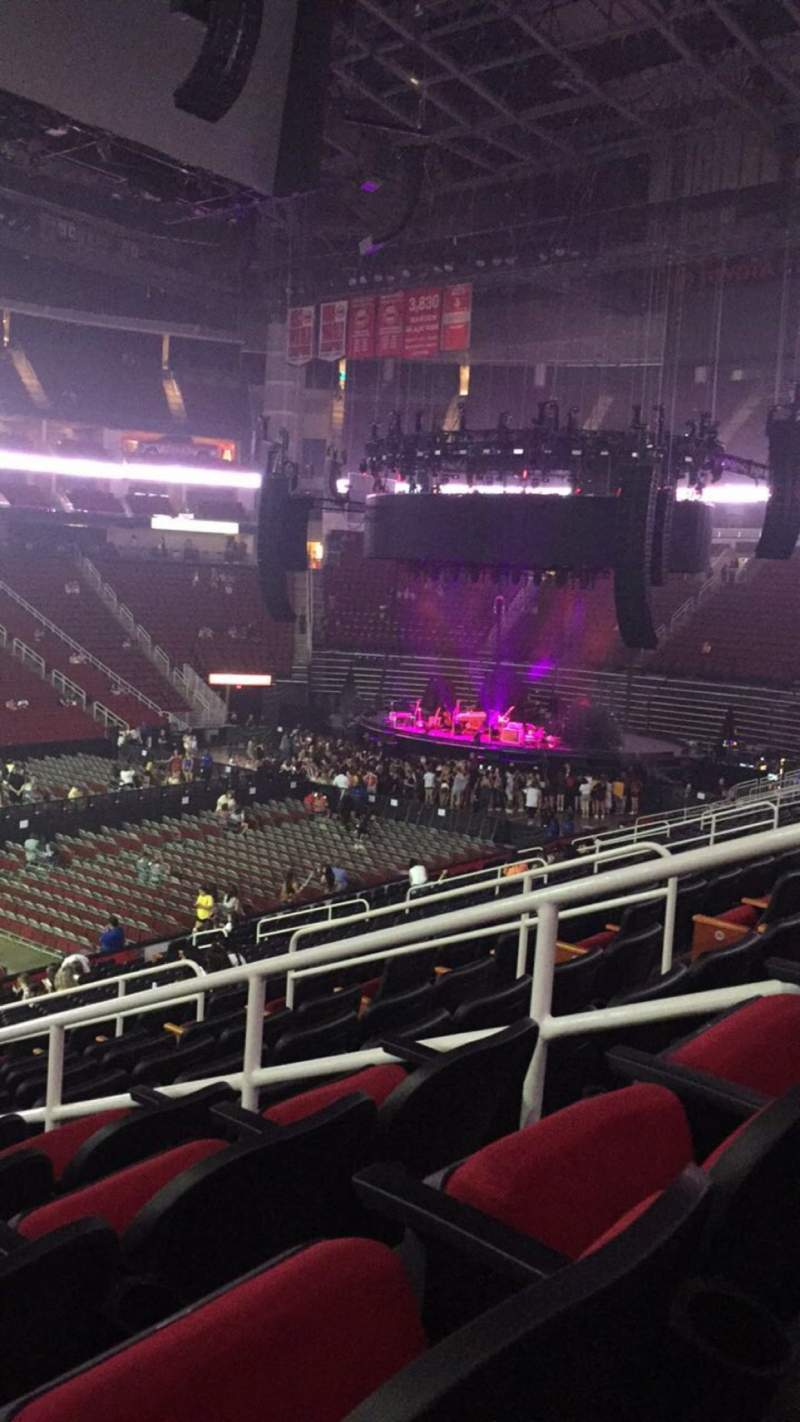 Seating view for Toyota Center Section 110 Row 24 Seat 5