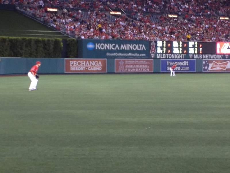 Seating view for Angel Stadium Section F104 Row A Seat 4