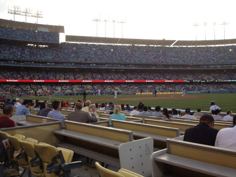 Seating view for Dodger Stadium Section 40FD Row B Seat 4