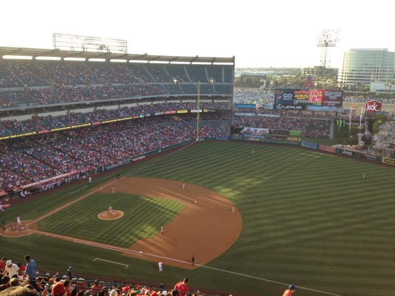 Seating view for Angel Stadium Section V530 Row P Seat 18