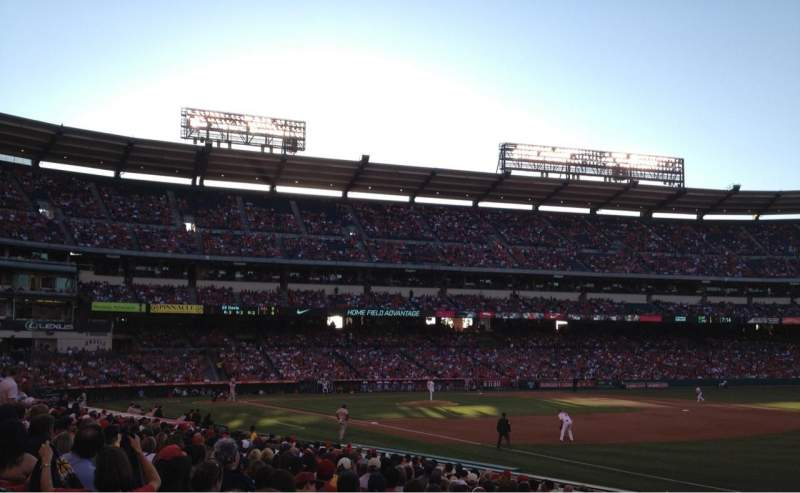 Seating view for Angel Stadium Section F129 Row S Seat 7