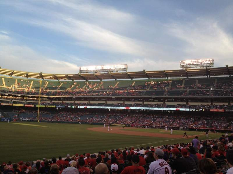 Seating view for Angel Stadium Section 105 Row R Seat 6