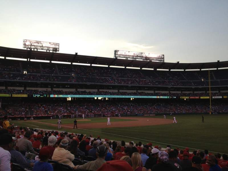 Seating view for Angel Stadium Section F130 Row N Seat 3