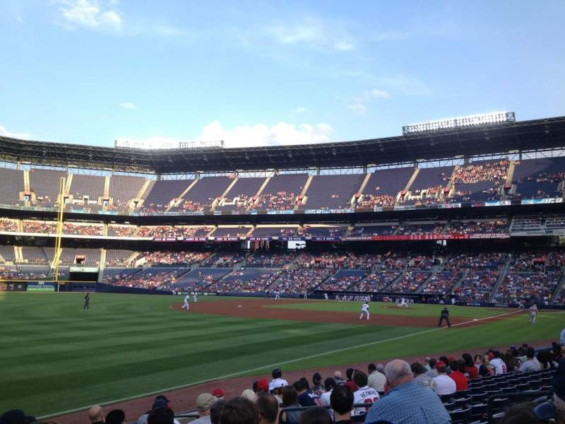 Seating view for Turner Field Section 124 Row 12 Seat 108
