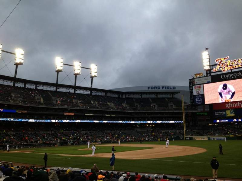 Seating view for Comerica Park Section 117 Row 21 Seat 18