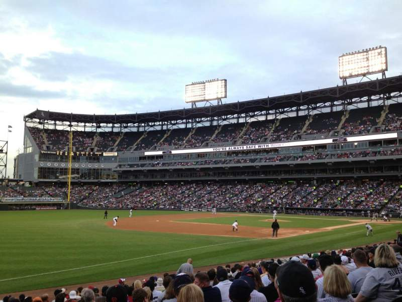 Seating view for Guaranteed Rate Field Section 149 Row 17 Seat 1