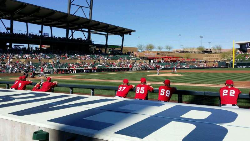Seating view for Salt River Fields Section 106 Row 6 Seat 10
