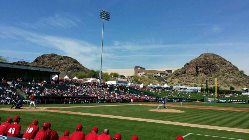 Seating view for Tempe Diablo Stadium Section 17 Row F Seat 11
