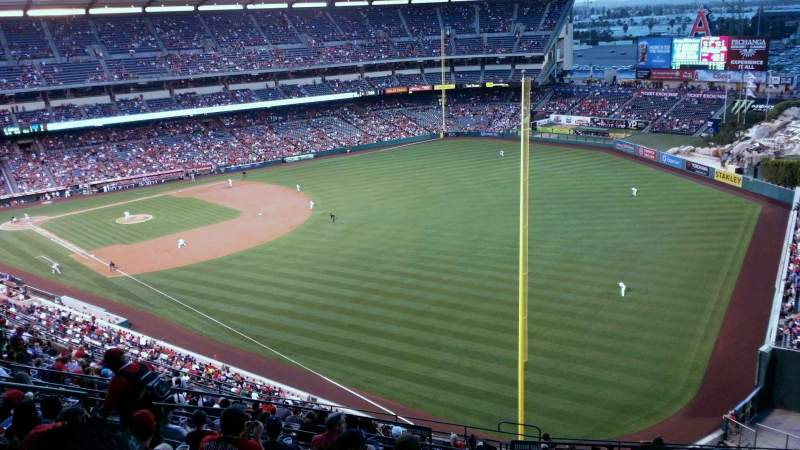 Seating view for Angel Stadium Section V536 Row K Seat 9