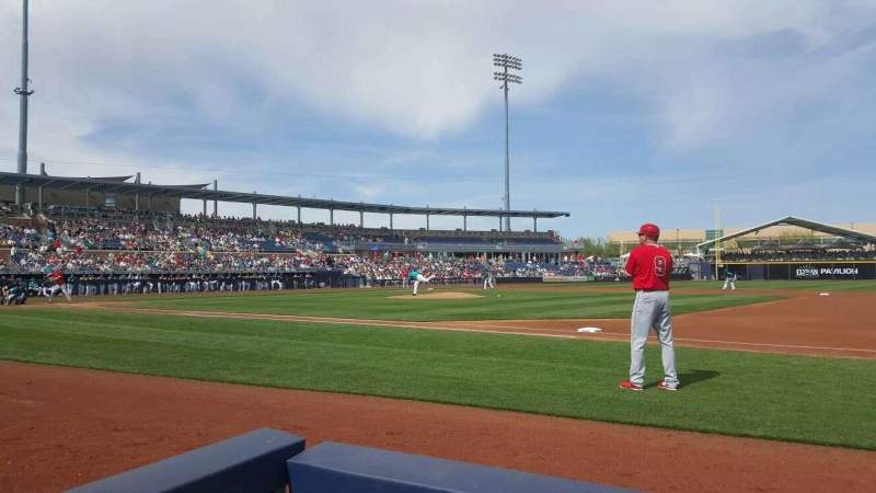 Seating view for Peoria Sports Complex Section 116 Row B Seat 1