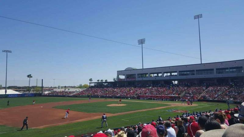 Seating view for Tempe Diablo Stadium Section 3 Row W Seat 9