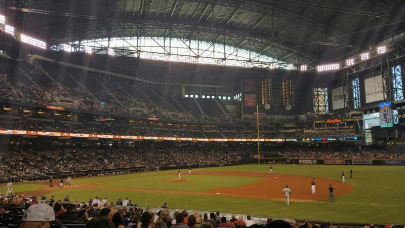 Seating view for Chase Field Section 114 Row 25 Seat 16