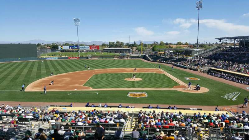 Seating view for HoHoKam Stadium Section Terrace/Patio