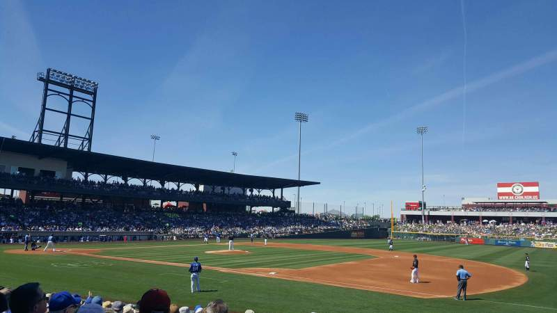 Sloan Park, section: 118, row: 14, seat: 1