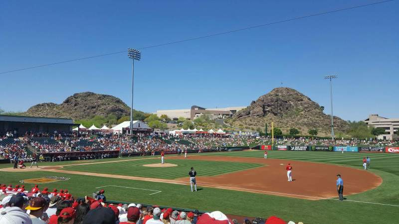 Seating view for Tempe Diablo Stadium Section 19 Row S Seat 3