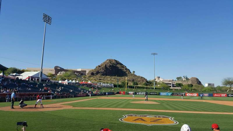Seating view for Tempe Diablo Stadium Section 16 Row F Seat 1
