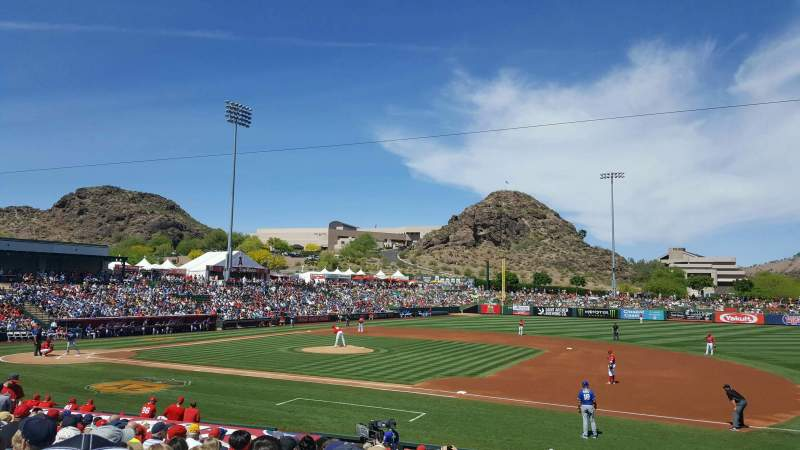 Seating view for Tempe Diablo Stadium Section 18 Row V Seat 11