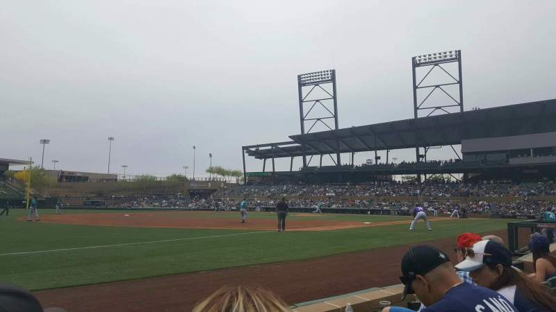 Salt River Fields, section: 121, row: 3, seat: 12