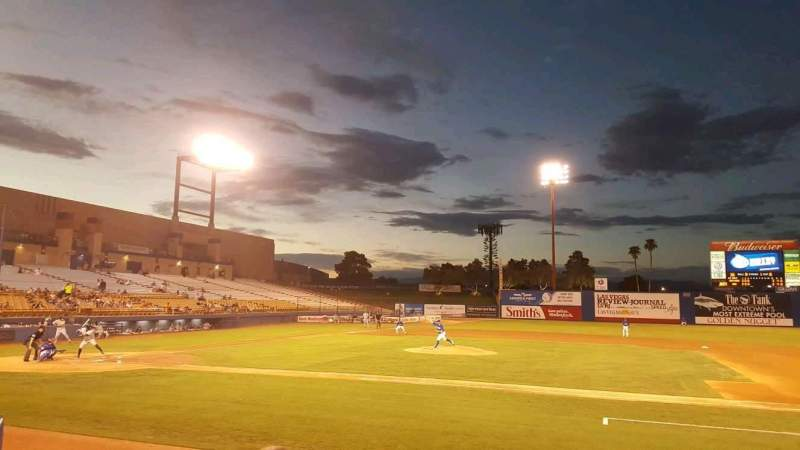 Seating view for Cashman Field Section 17 Row C Seat 9