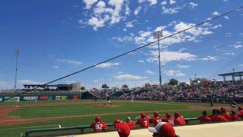 Goodyear Ballpark, section: 107, row: G, seat: 6