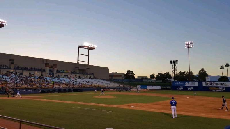 Seating view for Cashman Field Section 19 Row D Seat 4
