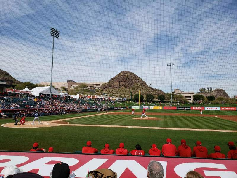 Seating view for Tempe Diablo Stadium Section 16 Row H Seat 7