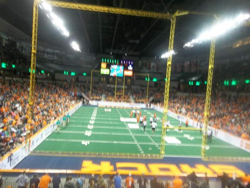 Seating view for Spokane Arena Section 121 Row S  Seat 4